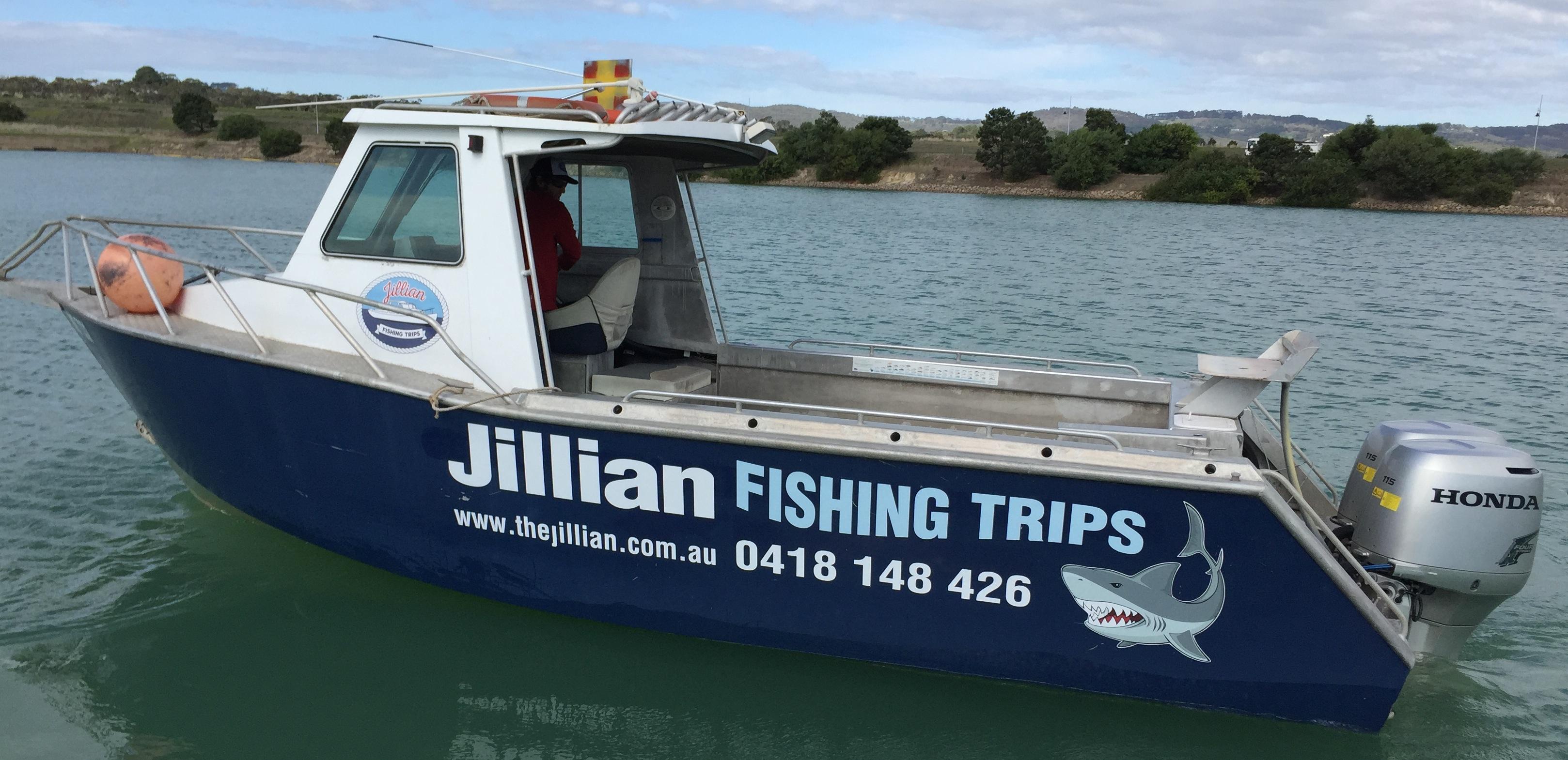 Jillian fishing trips the new boat for Fishing boat trips